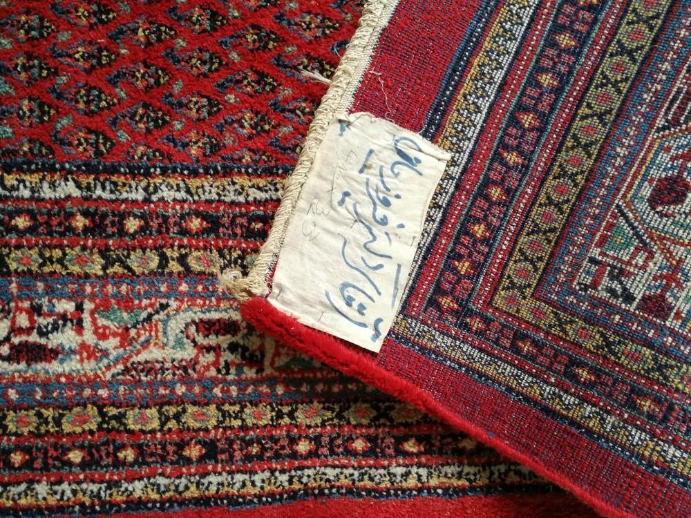 Mir Perzisch Tapijt : Groot blauw handgeknoopt perzisch tapijt vintage wollen kleed mir