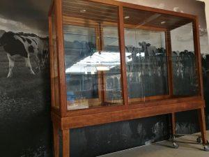 museumkast vitrinekast retro industrieel