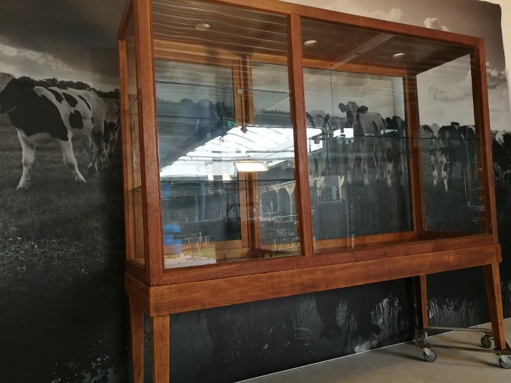 Wonderbaarlijk museumkast vitrinekast retro industrieel   Het Erfgoed GU-59